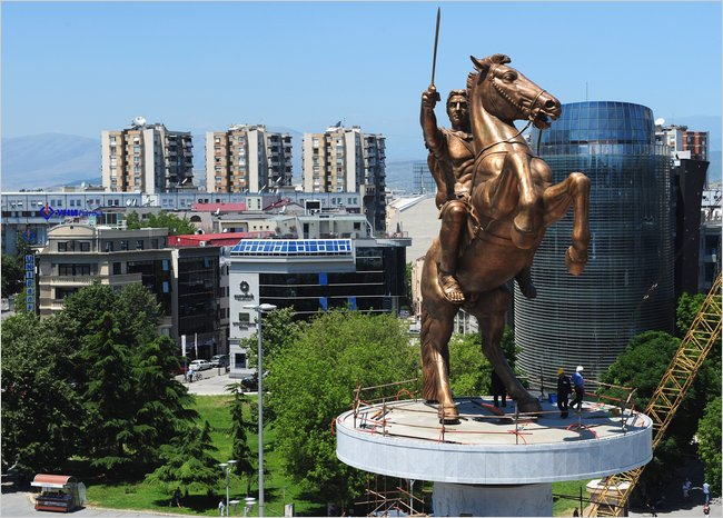 Alexander the Great - statue, Shkup, Macedonia
