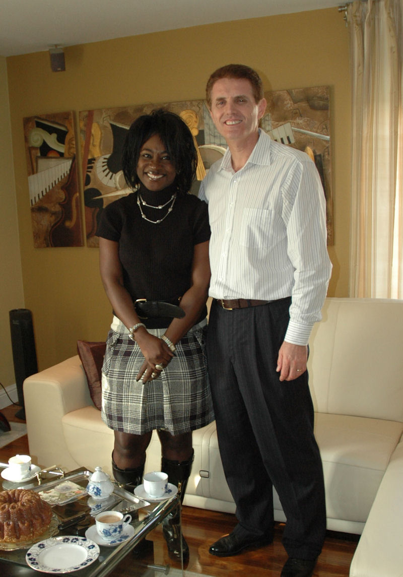 Marinaj with his friend Priscilla King at his home in Richardson 2009
